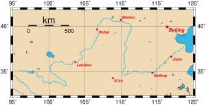 1.Huanghe-map-Sárga-folyó-Ordos